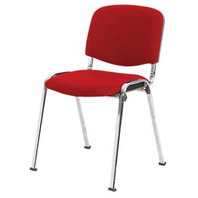 Niceday Visitor Chair ISO Fabric Red 4 Pieces