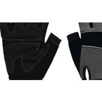 Polyco Gloves Leather Size 9 Black, Grey