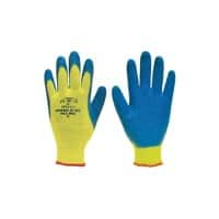 Polyco Gloves Latex Size 9 Yellow, Blue