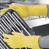 Gloves Gauntlet Rubber Size 7 Yellow