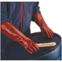 Polyco Gloves Gauntlet PVC Size 9.5 Red