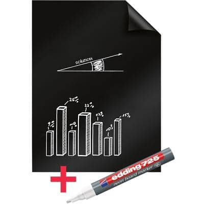 Legamaster Whiteboard Foil Magic Chart A1 Plain 25 Sheets