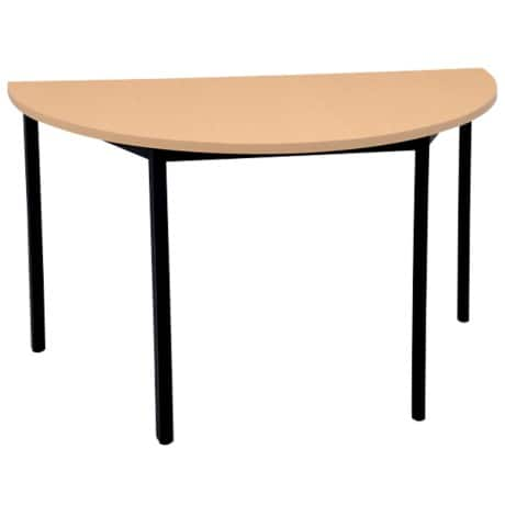 Niceday Circular Meeting Room Table 1400 mm Beech