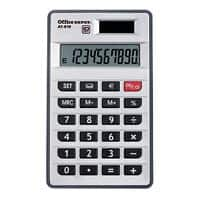 Office Depot Pocket Calculator AT-810 10 Digit Display Dual Power Silver