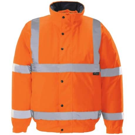 Unisex Hi-vis bomber jacket Size: L orange
