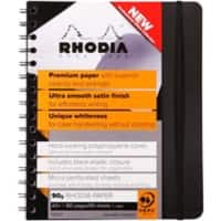 Rhodia A5 Wirebound Black Softback Business Notebook Ruled 180 Pages