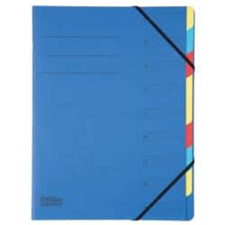 Office Depot 9 Part Organiser File A4, Blue - Each