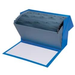 Office Depot Expanding File Foolscap Blue Cardboard