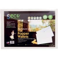 Seco File Wallet 30085-CL A4 Clear Oxo-biodegradable Polypropylene