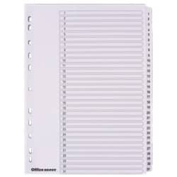 Office Depot Mylar Dividers, White Board, A4, 31 Part 1-31 Numbered - Set