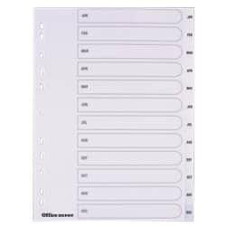 Office Depot Polypropylene Dividers, White Polypropylene, A4, 12 Part Jan-Dec - Set