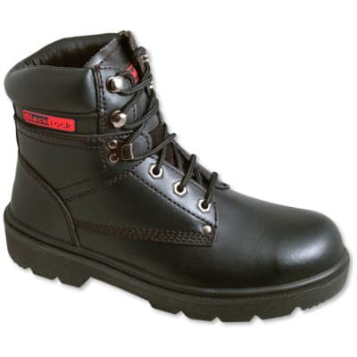 Safety Shoes Leather 8 Black