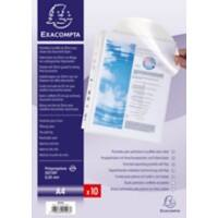 Exacompta Punched Pockets 5503E A4 Transparent Polypropylene 23 x 30.5 cm 10 Pieces