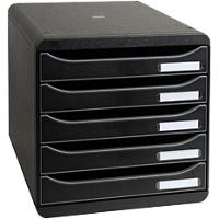 Exacompta Drawer Unit Big Box Plus Polystyrene Black 27.8 x 34.7 x 27.1 cm