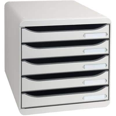 Exacompta Drawer 309740D PS Light Grey 27.8 x 34.7 x 27.1 cm