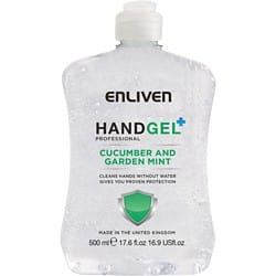 Enliven Hand Sanitiser Professional Cucumber & Garden Mint 500 ml