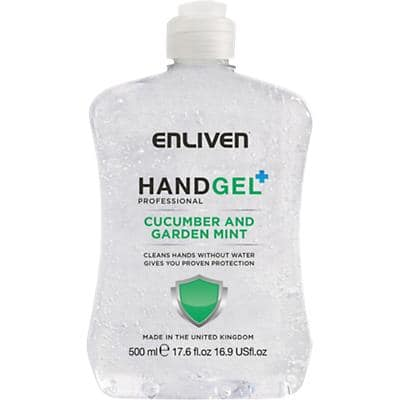Enliven Hand Sanitiser Professional Cucumber and Garden Mint 500 ml