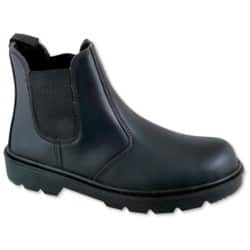 Safety Shoes leather 6 Black