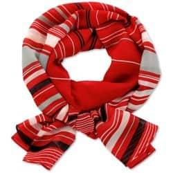 Womens Lightweight scarf Size: One size Ruby striped black