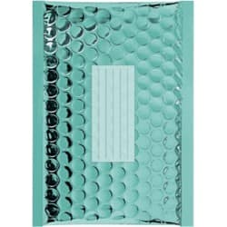 Office Depot Metallic Padded Envelopes C/0 Turquoise 80gsm Peel and Seal 100 Pieces
