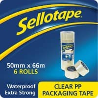 Sellotape 1445171 Packaging Tape Transparent 60 microns 5 cm x 66 m 6 rolls