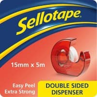 Sellotape Tape Dispenser Transparent 15 mm x 5 m