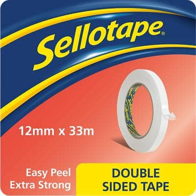 Sellotape Double Sided Tape 1447057 12 mm White