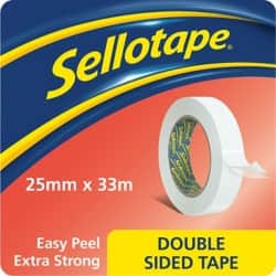 Sellotape Double Sided Tape 1447052 25 mm x 33 m Clear