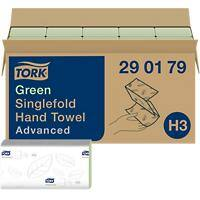 Tork Folded Hand Towels H3 Advanced 2 Ply V-fold Green 15 Pieces of 250 Sheets