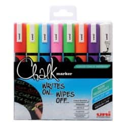 Uni POSCA Chalk Marker, Assorted - Pack of 8