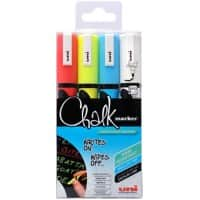 uni-ball Chalk Marker PWE-5M Assorted 4 Pieces