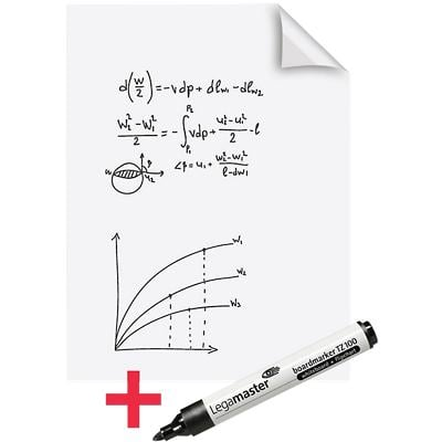 Legamaster Electrostatic Magic Chart Whiteboard Foils Perforated A1 588g 25 Sheets