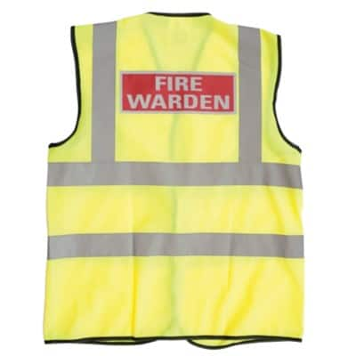a7ad2f9086cdb Identify your key personnel with this fire marshall Hi-vis waistcoat. This large  size Hi-vis vest ...