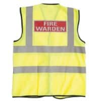 Alexandra Hi-Vis Fire Warden Vest XL Yellow