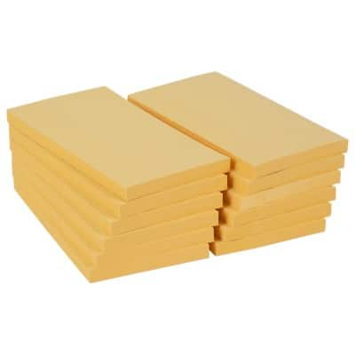 Office Depot Sticky Notes 76 x 127 mm Pastel Yellow 12 Pieces of 100 Sheets
