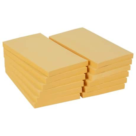 Office Depot Sticky Notes Yellow 76 x 127 mm - 12 pads per pack