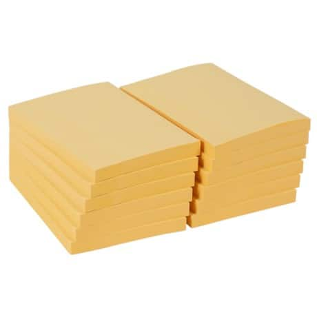 Office Depot Sticky Notes Yellow 76 x 102 mm - 12 pads per pack
