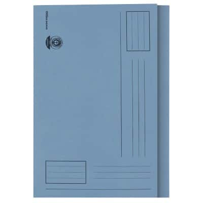 Office Depot Square Cut Folder Manilla Foolscap Blue Manila 240 x 354 mm 100 Pieces