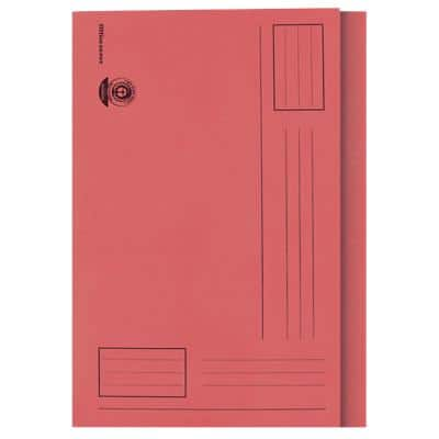 Office Depot Square Cut Folder A4 Red 180gsm Manila 100 Pieces