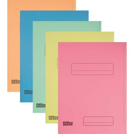 Office Depot 2 Flap Folder A4 Assorted cardboard 50 pieces