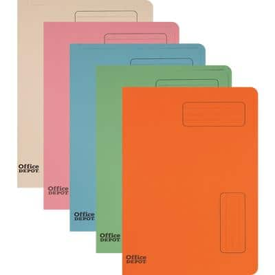 Office Depot Square Cut Folder A4 Assorted Manila 50 Pieces