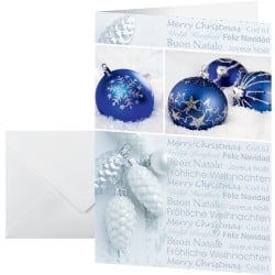Sigel Christmas Card Seasons Greeting A6 220gsm White, Blue 25 pieces