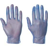 Supertouch Gloves Vinyl Size M Blue 100 Pieces