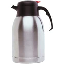 Genware Vacuum Push Button Jug Stainless Steel 1.5 L