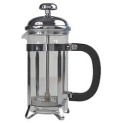 Genware 12-Cup Cafetiere Plated with Pyrex Chrome 1.5 L/48 oz