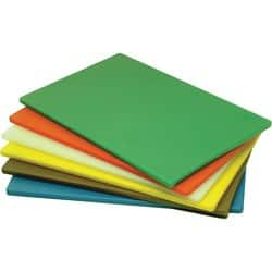 Genware LD Chopping Boards 6 colours (1 of each) 18 x 12 x 0.5""