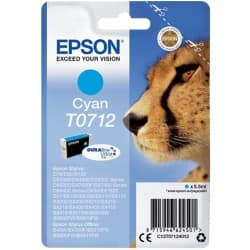 Epson T0712 Original Ink Cartridge C13T07124012 Cyan