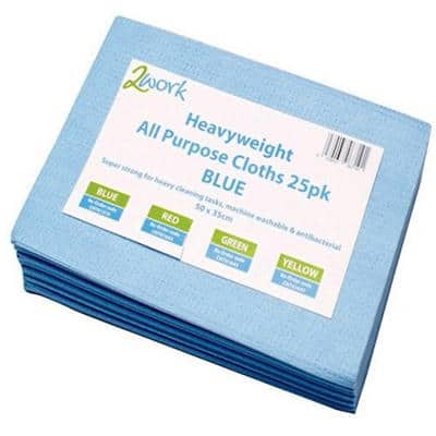 Robert Scott Cleaning Cloths Heavyweight Blue Pack of 25