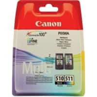 Canon PG-510/CL-511 Original Ink Cartridge Black & 3 Colours Pack of 2