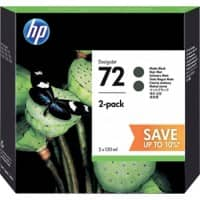 HP 72 Original Ink Cartridge P2V33A Matte Black 2 Pieces